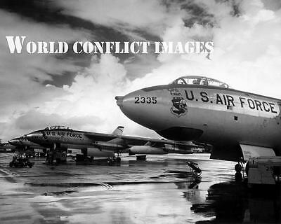 USAF SAC Boeing B-47 Stratojet Bomber 8x10 Photo Cold War Nuclear Swept Wing