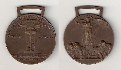 WWI Italy Victory Interallied Bronze Medal 1914-1918 S.Johnson (Milano)