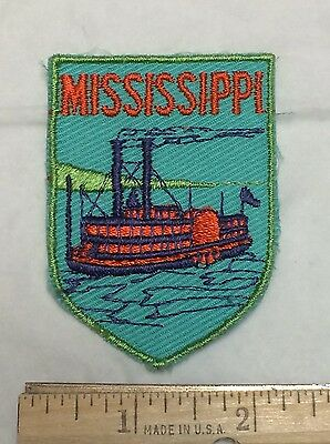MISSISSIPPI River Boat Riverboat Cruise Ship Souvenir Patch Badge