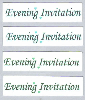 Wedding Evening Invitation Craft Sentiments DIY Make Your Own Wedding Stationery