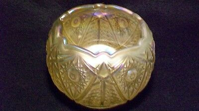 Imperial Glass Gold Toned Opalized Bowl