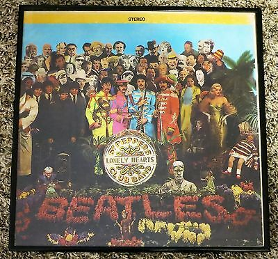 Framed - Sgt. Peppers Club Band Lonely Hearts Beatles Vinyl Record