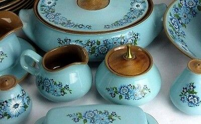 Taylor Smith Taylor Vintage 1968 AZURA China Sugar Bowl w Lid & Creamer Only