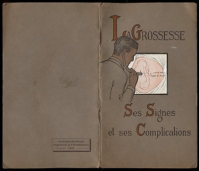 U, Pregnancy - Signs and Complications, 1932, France ULTRA RARE BOOK!