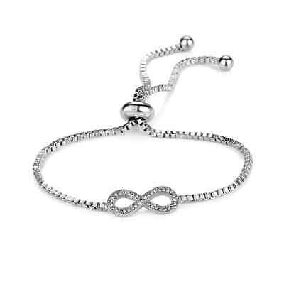 Infinity Friendship Bracelet with Crystals from Swarovski® in Gift Box