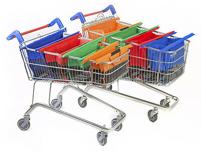 bags 4pcs set reusable eco grocery cart trolley shopping 4 colors