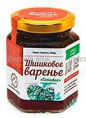 Russian Jam of Young Pine Cones   Piny Preserve Confiture Conserve Organic Food