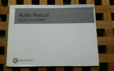 Vauxhall Corsa Astra Vectra  Audio Manual  Printed 2007