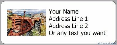 Old Tractor - 30 Photo Return Address Labels