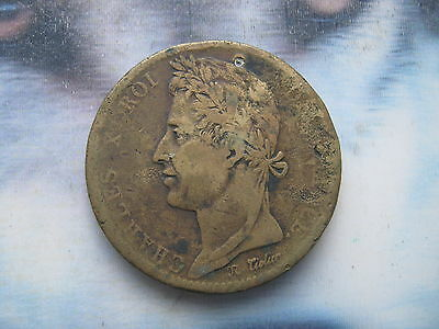 French Colonies 1827 10 Centimes bronze coin