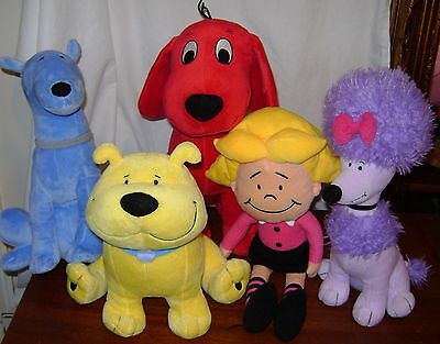 Kohl's Clifford The Big Red Dog Cleo Mac T-bone Plush Lot of 4
