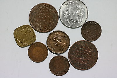 India Old Coins Lot A56 Zr9