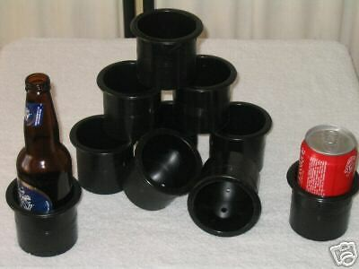 10 POKER TABLE CUP HOLDER DRINK HOLDERS  - EXTRA  DEEP - 70mm wide x  70mm deep