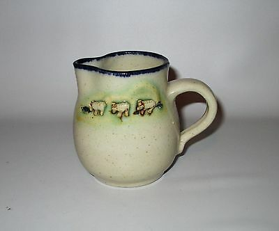 Marianne Finlayson Scottish Studio Pottery Creamer Stowe Scotland Sheep Signed