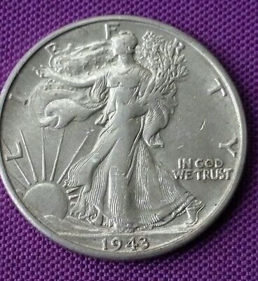 USA 1943 S Walking Liberty Half Dollar Coin .900 Silver United States Of America