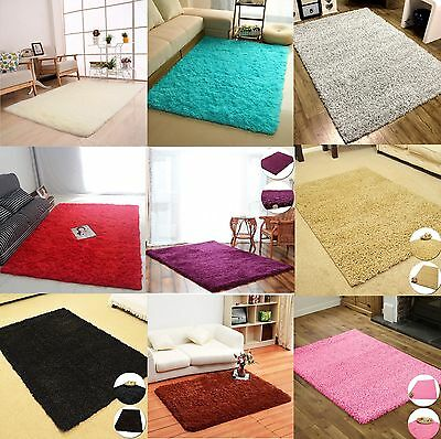 Fluffy Shaggy Rugs Modern Living Room Thick Soft Carpet Floor Mat Home Bedroom