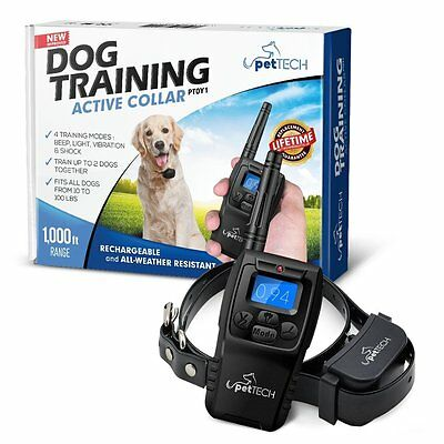 PetTech Remote Controlled Dog Training Collar Rechargeable and Waterproof New