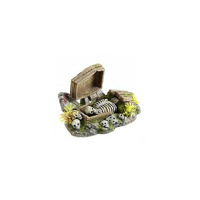 Caldex Classic Action Ornament Coffin With Plants 195mm