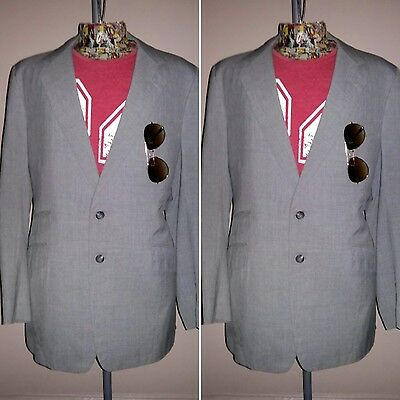 Men's Vintage 1980's Grey Blazer by BARSELAAR & SNELL of Johannesburg.