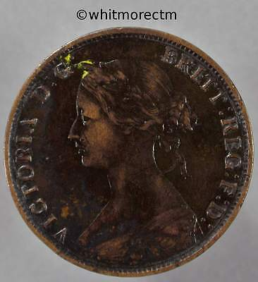 Victoria Young Head Bronze Halfpenny 1/2d 1862