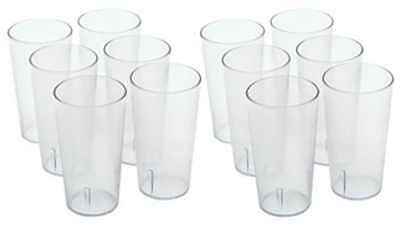 Winco Clear Plastic Restaurant Beverage cup,1-Pack of 12