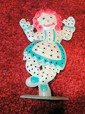 Vintage Raggedy Andy earring holder