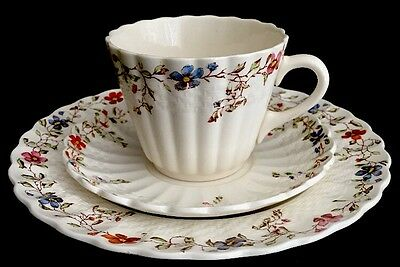 Trio Set of Vintage Copeland Spode Wicker Dale Tea Cup, Saucer and Plate
