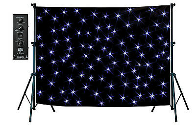 NJS Professional LED Star Cloth Kit 2 x 3m, includes controller & carry bag
