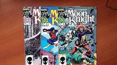 Moon Knight Fist Of Khonshu #4,5,6 (1985) Vf/nm Great Bill Sienkiewicz Art