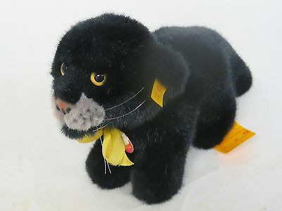 Vintage Steiff Panther With Tags And Button