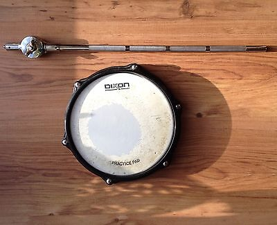 Drum Practice Pad & Mounting Arm, good quality and v good used condition
