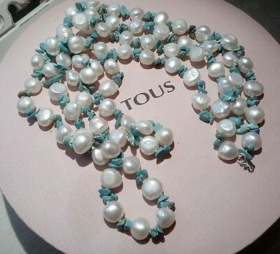 Tous Silver Pearl Necklace