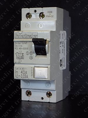 Power Breaker 40A 30mA RCD RCCB H05-402030 - TESTED - Free Delivery
