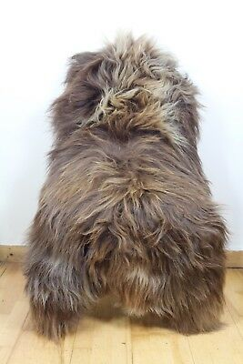 XL Large Genuine Icelandic Sheepskin Real Fur Rug Natural Caramel/Rusty Brown