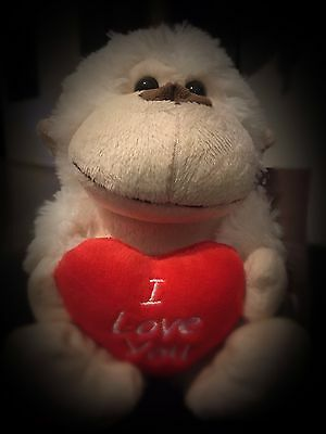 Toys monkey with heart I Love You
