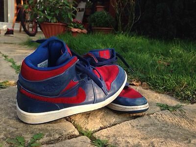 Air Jordan's 1 blue and red shoes size 11