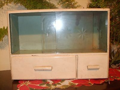 RARE!! Vintage1920s Old Wooden Medicine Apothecary Wall Cabinet Chest Cupboard