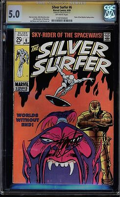 Silver Surfer #6 Cgc 5.0 Ss Stan Lee Signed Sig Series Cgc #1197203020