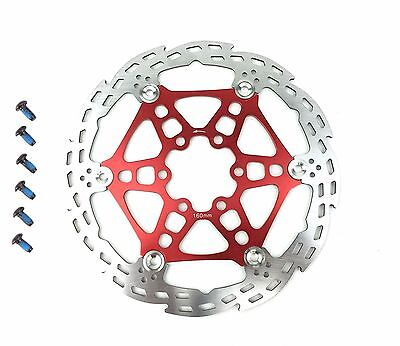 COOMA Disque de frein VTT disque flottant ROUGE160mm RED floating rotor 160mm
