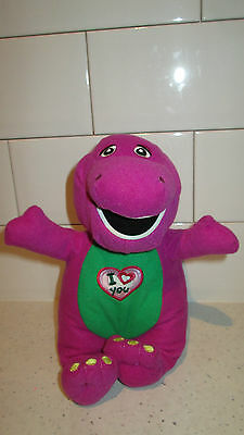 """9"""" Singing Musical Barney Soft Cuddly Toy With Batteries"""