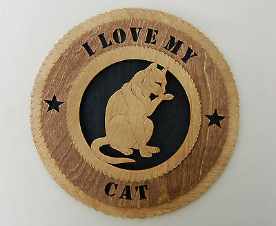"""""""I Love My Cat""""  laser cut wall tribute/plaque"""