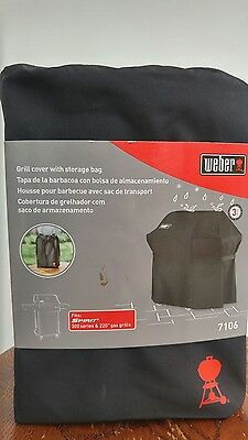 Weber 7106 GRILL COVER WITH STORAGE BAG FOR SPIRIT 300 SERIES & 220 GAS GRILLS