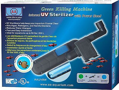 Green Killing Machine Internal 9 Watt UV Sterilizer with Power Head NEW