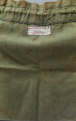Vintage  WWII American Red Cross Northumberland County Convalescent Kit Bag