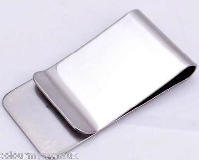 New - Plain Silver Stainless Steel Metal Money/cash/card Clip/holder(Uk)