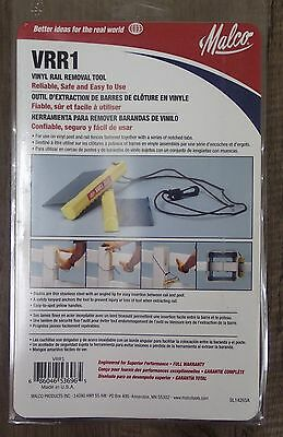 New Malco VRR1 Vinyl Rail Removal Tool Made in USA