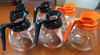 6 Pack - 12 Cup Commercial Coffee Pots/Decanters for Bunn - Regular & Decaf