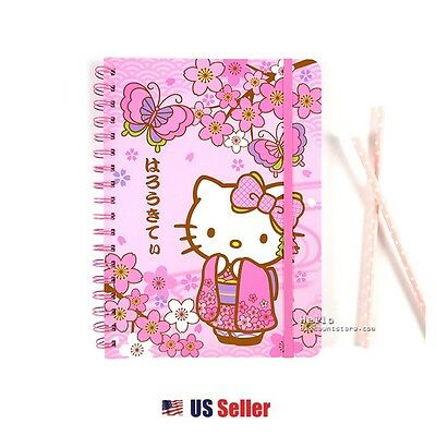 Sanrio Hello Kitty School Supply Kimono Kitty Spiral Notebook Note Pad Journal