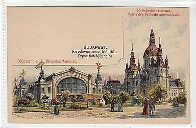 HUNGARY: Budapest Exposition Milienaire postal stationery postcard (C24153)