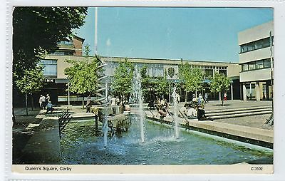 QUEEN'S SQUARE, CORBY: Northamptonshire postcard (C24437)